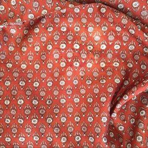 Vintage Tops - Vintage Silk & Polyester Boho Patterned Open Robe